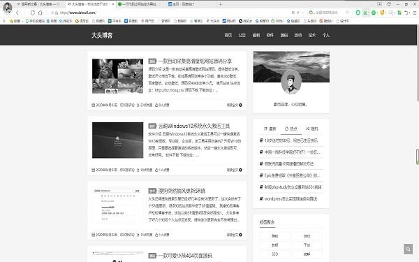 让网站变为黑白的代码
