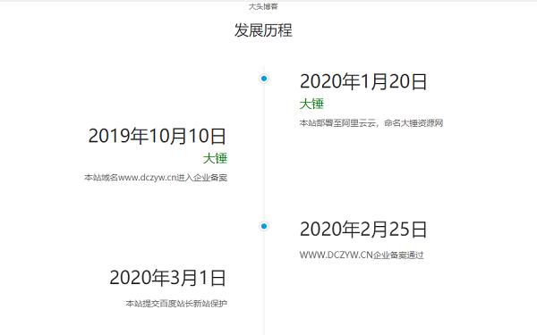 一款简洁的网站发展历程源码自适应